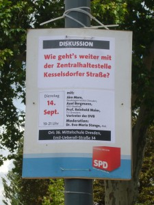 Wie geht's weiter mit der Zentralhaltestelle Kesselsdorfer Straße