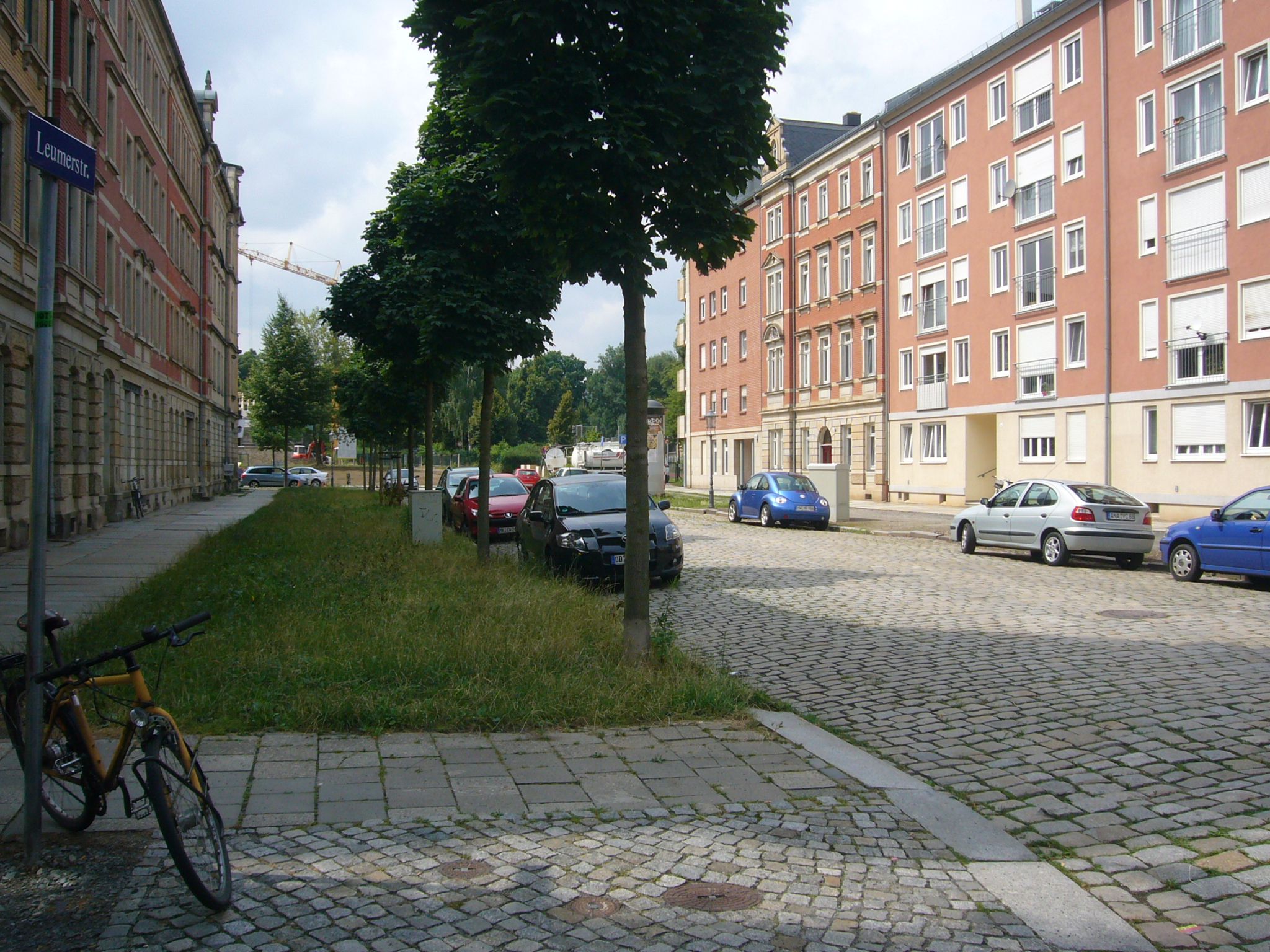 Blick in die Leumerstraße