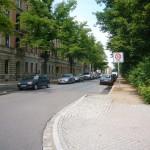 Bonhoefferplatz West von der Clara-Zetkin-Straße aus