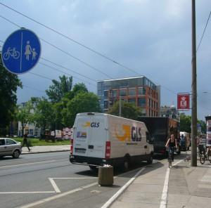 Radverkehr auf der Kesselsdorfer Straße, 08.06.2011