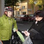 Stadträtin Gerit Thomas im Gespräch mit SZ-Redakteurin Monika Dänhardt
