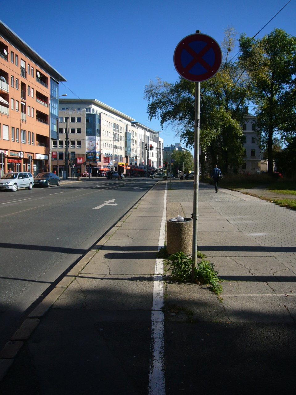 Neue Kurzzeitparkplätze an der Kesselsdorfer Straße