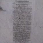 Die historische Badeordnung vom Volksbad Löbtau