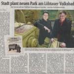 SZ-Artikel zum Volksbadgarten vom 26.04.2012