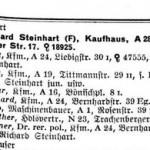 Ausschnitt aus dem Historischen Adressbuch von Dresden 1937