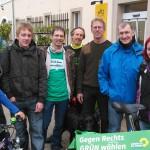 Gruppenfoto mit Bernd Probst vom Vorwerk Podemus