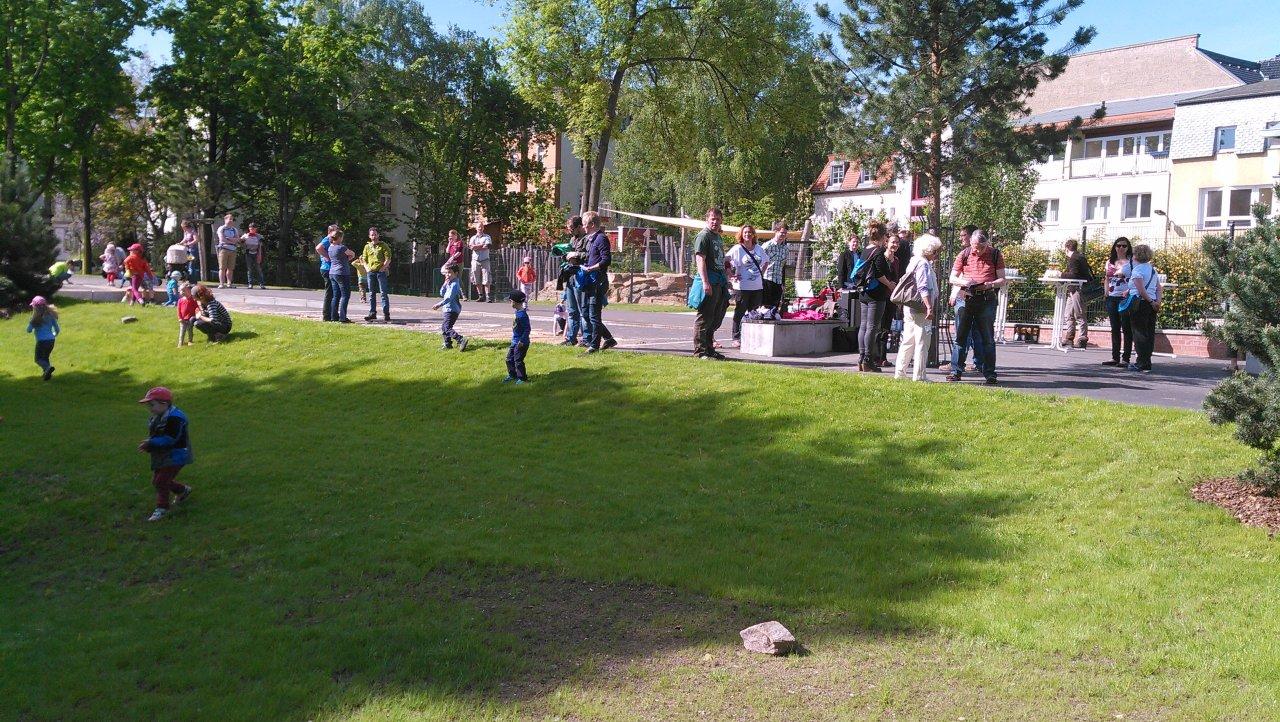 Eröffnung des Bewegungsparks Volksbadgarten