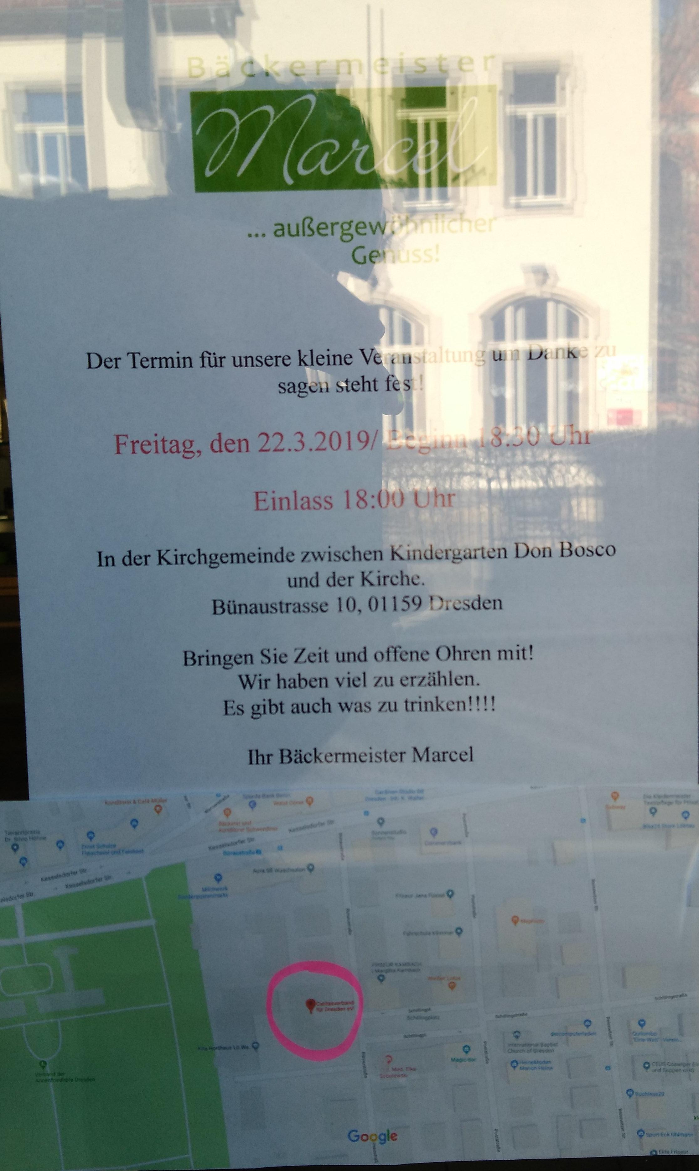 Bäckermeister Marcel verlässt Löbtau