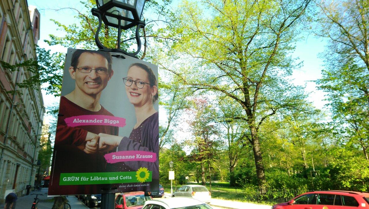 Plakate, Kandidaten, Briefwahl – Kommunalwahl 2019 im Dresdner Westen